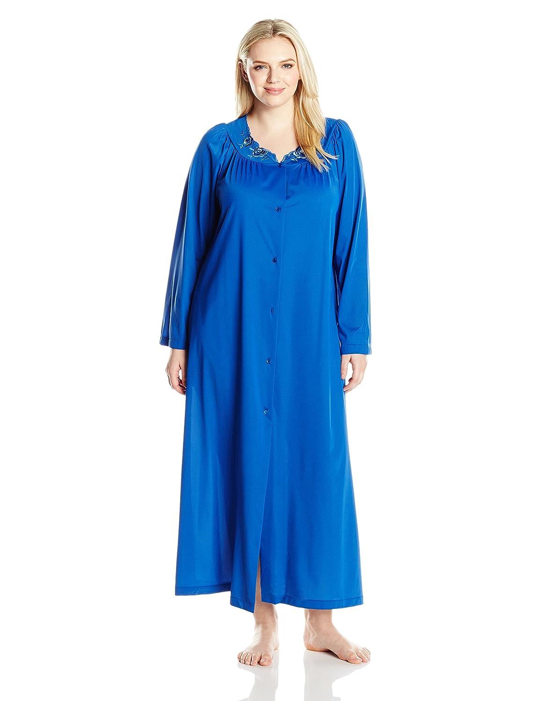 Shadowline Women's Plus-Size Petals 54 Long Sleeve Long Coat Shadowline Sleepwear 71280X