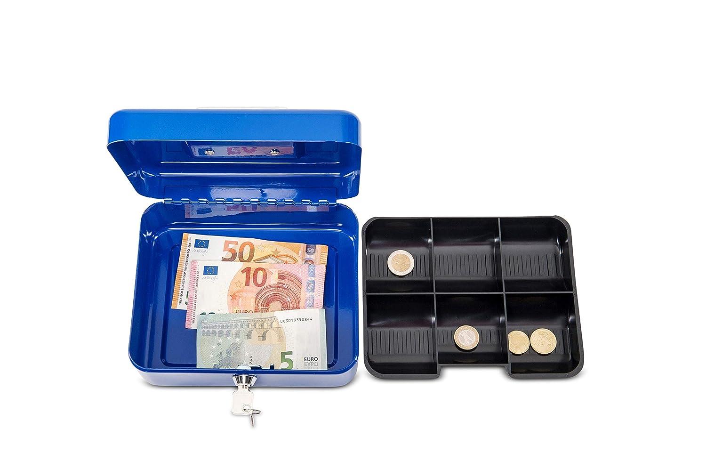 in lamiera dacciaio Cassetta per denaro dimensioni : 200 x 170 x 90 mm argento misura 2 L x P x H Maul 5610202