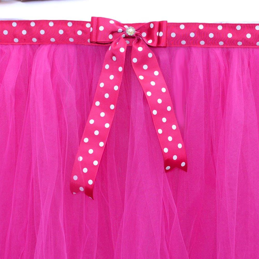 LianLe mesa de tut/ú faldas para ni/ña princesa fiesta beb/é ducha boda cumplea/ños decoraci/ón