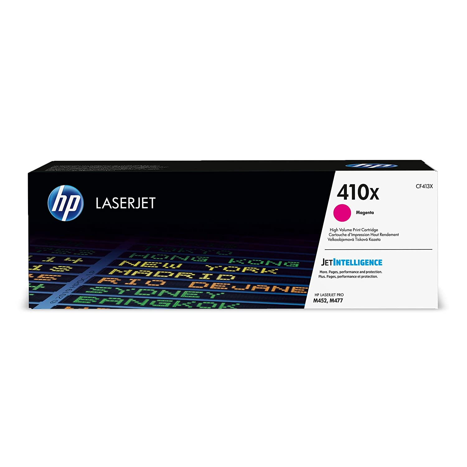 HP 410X (CF413X) Toner Cartridge, Magenta High Yield for HP Color LaserJet Pro M452dn M452dw M452nw MFP M377dw MFP M477fdn MFP M477fdw MFP M477fnw