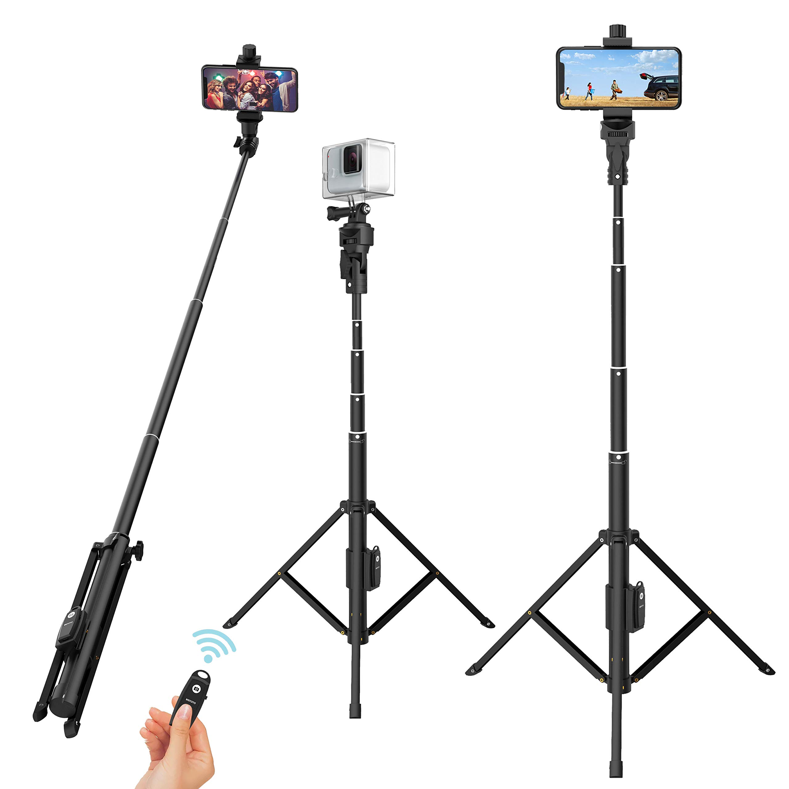 Selfie Stick Tripod, 52'' Extendable Phone Camera Selfie Stick with Tripod Stand & Rechargeable Wireless Remote for iPhone Xs X 6 7 8/ Huawei/Samsung Galaxy S9 Note8/ Xiaomi/GoPro/Android Phones by Outsolidep