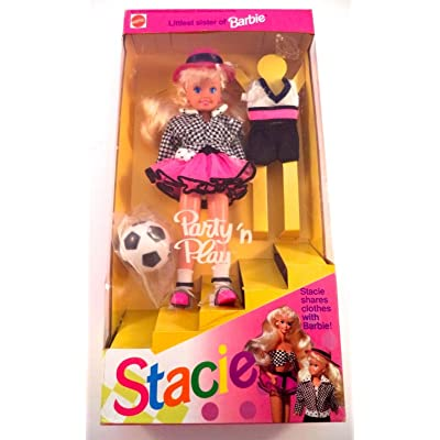 Barbie - Party 'n Play STACIE Doll Littlest Sister of Barbie (1992): Toys & Games