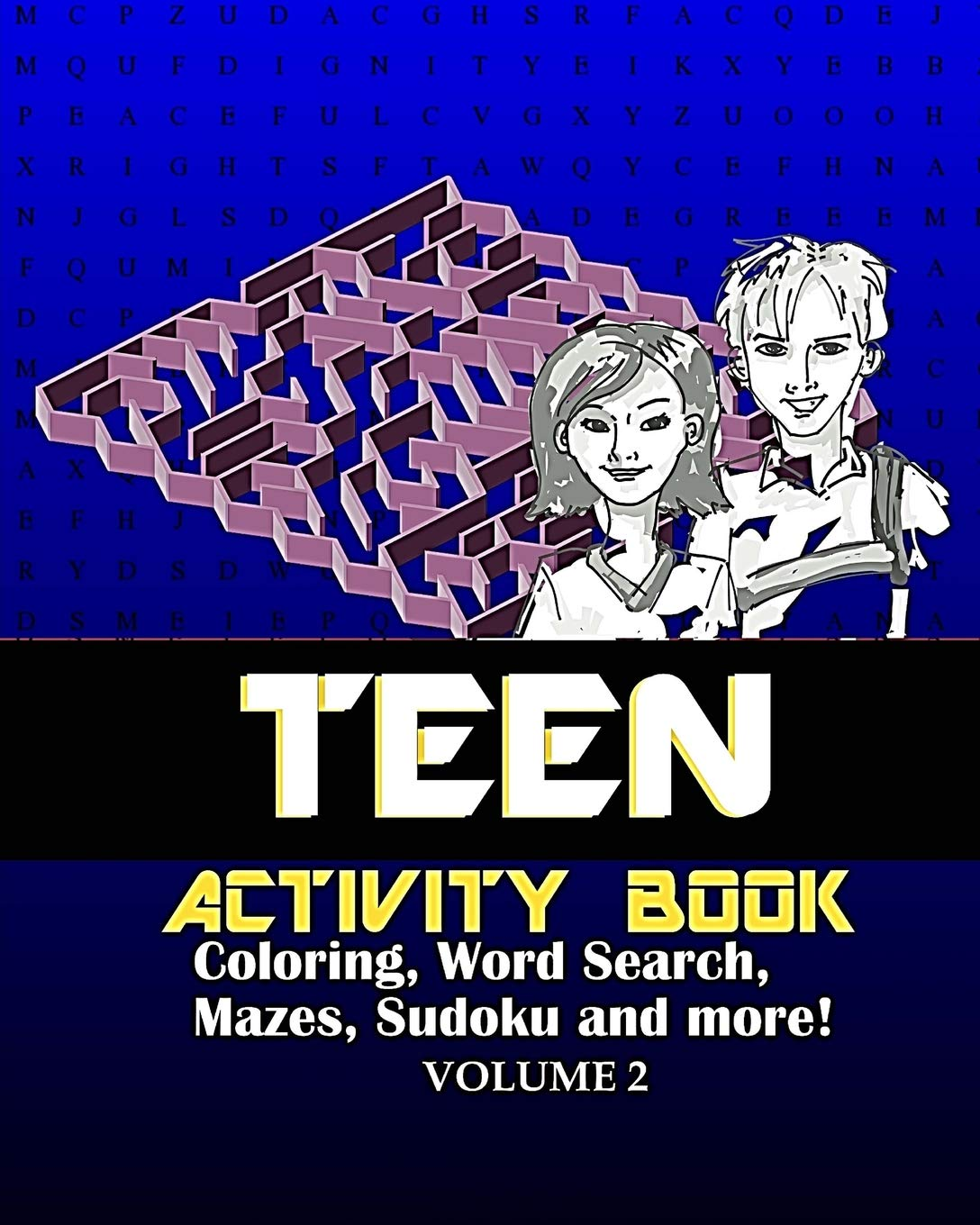 Teen Activity Book Volume Two: Coloring, Word Search, Mazes, Sudoku and more! ebook