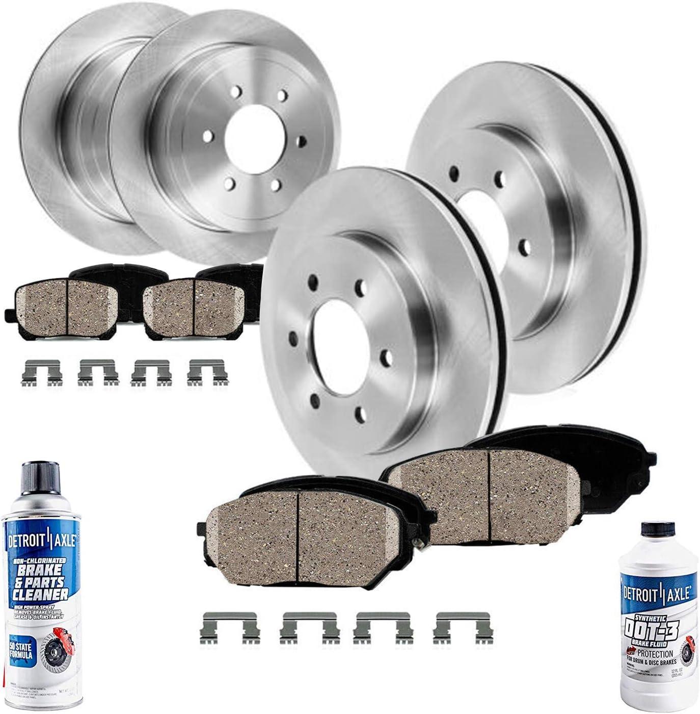 350mm 13.78 Premium FRONT Brake Rotors for Infiniti Nissan Titan QX56 Armada Detroit Axle