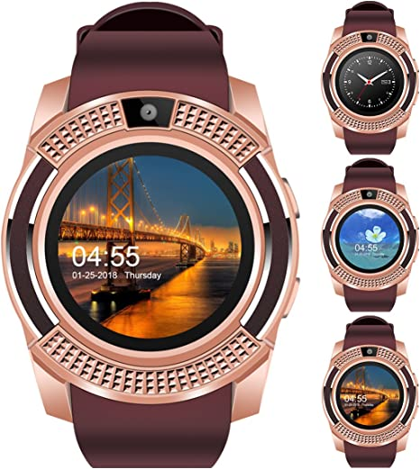 V8 Sports Smartwatch Bluetooth with Camera Message Push Touch Screen Pedometer Sedentary Reminder Sleep Monitor Instant Notification Anti-Lost ...