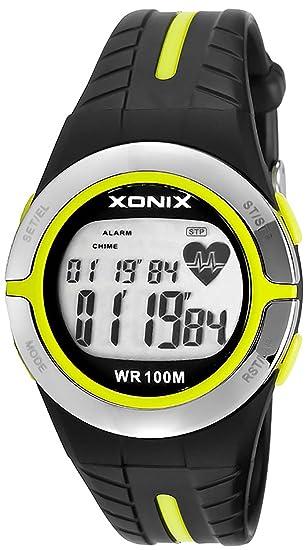 Avanzado Deportivo Reloj Xonix, Pulsómetro,Excelente Gadget Para el Entrenamiento,Multifunción,Resistente al agua 100M, XMRH3/3: Amazon.es: Relojes