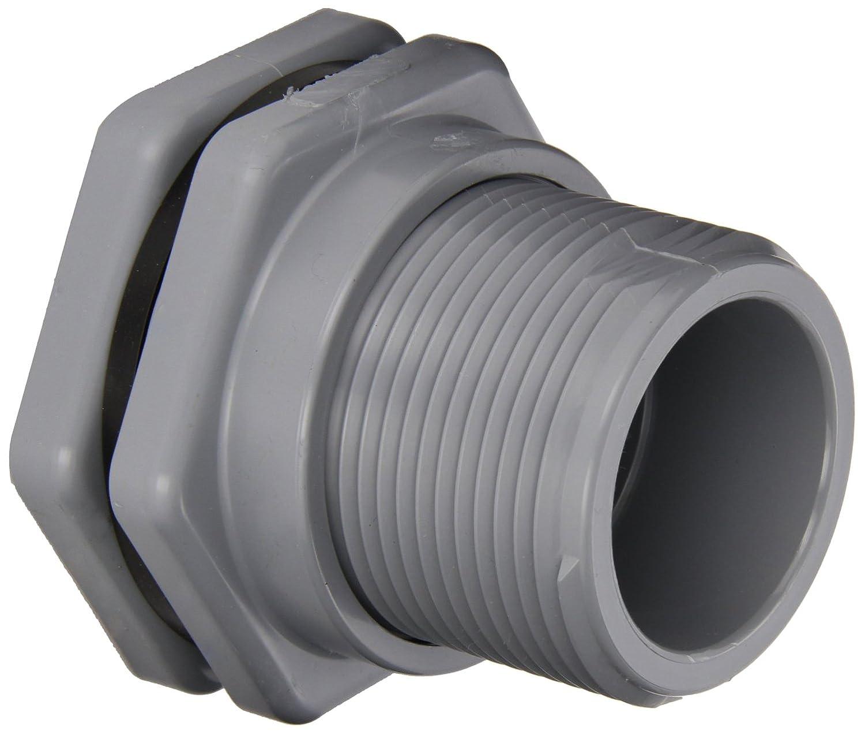 Socket x Socket End Hayward BFA2007SFS Series BFA Standard Flange Bulkhead Fitting CPVC with FPM Seals 3//4 Size