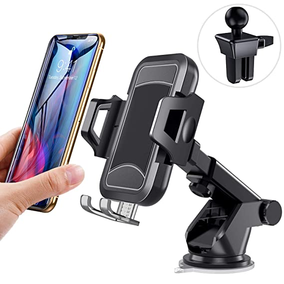 online retailer 26157 33fe8 itaomi [Upgrade] Car-Phone-Mount, Dashboard Air Vent Windshield, Handsfree  Cell Phone Car Holder Compatible iPhone XR Xs Max Xs X 8 7 6 Plus, ...