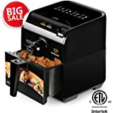 KITCHARM Air Fryer, Low Fat Oil Free Healthy and Multi-function Electric Air Cooker with Detachable Non-Stick Basket, 3.0QT, ETL Certified