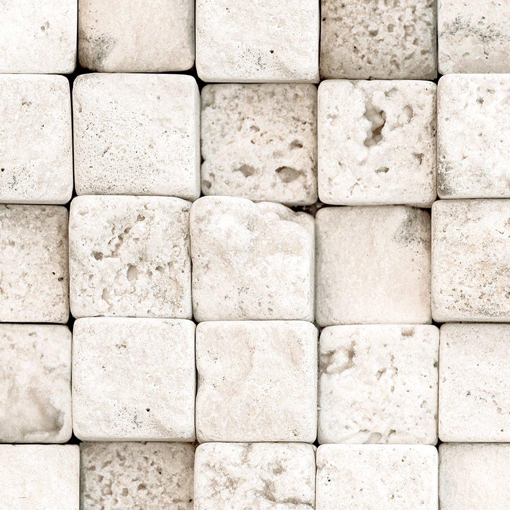 murando Papier peint adhesif PURO 10 m sans repetition papier peint mural decoratif pour cuisine et salon feuille autocollante tapisserie murale autocollante pierre f-A-0210-j-b