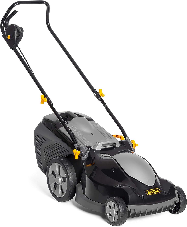 Alpina 294380064/A19 Cortacesped Electrico BL 380 EP, 1600 W, Negro, Ancho de Corte 38 cm, Capacidad de Bolsa 40 litri