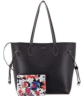 Ladies Leather Bag Tote Lodis 2 n 1 Bliss with Wristlet Handbag Purse Beige New