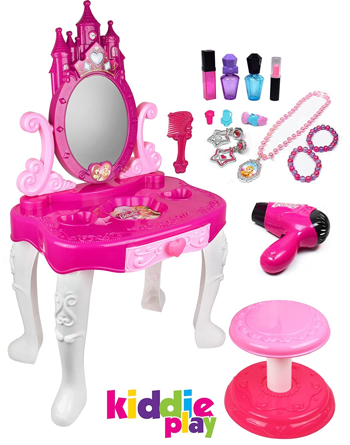 Kiddie Play Little Princess Kids Vanity Table And Chair