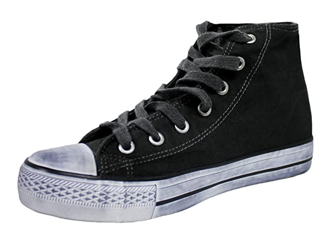 Zapatillas deportivas hombre alto negro blanco Lienzo Casual Deporte Man s Shoes Calzado nero,