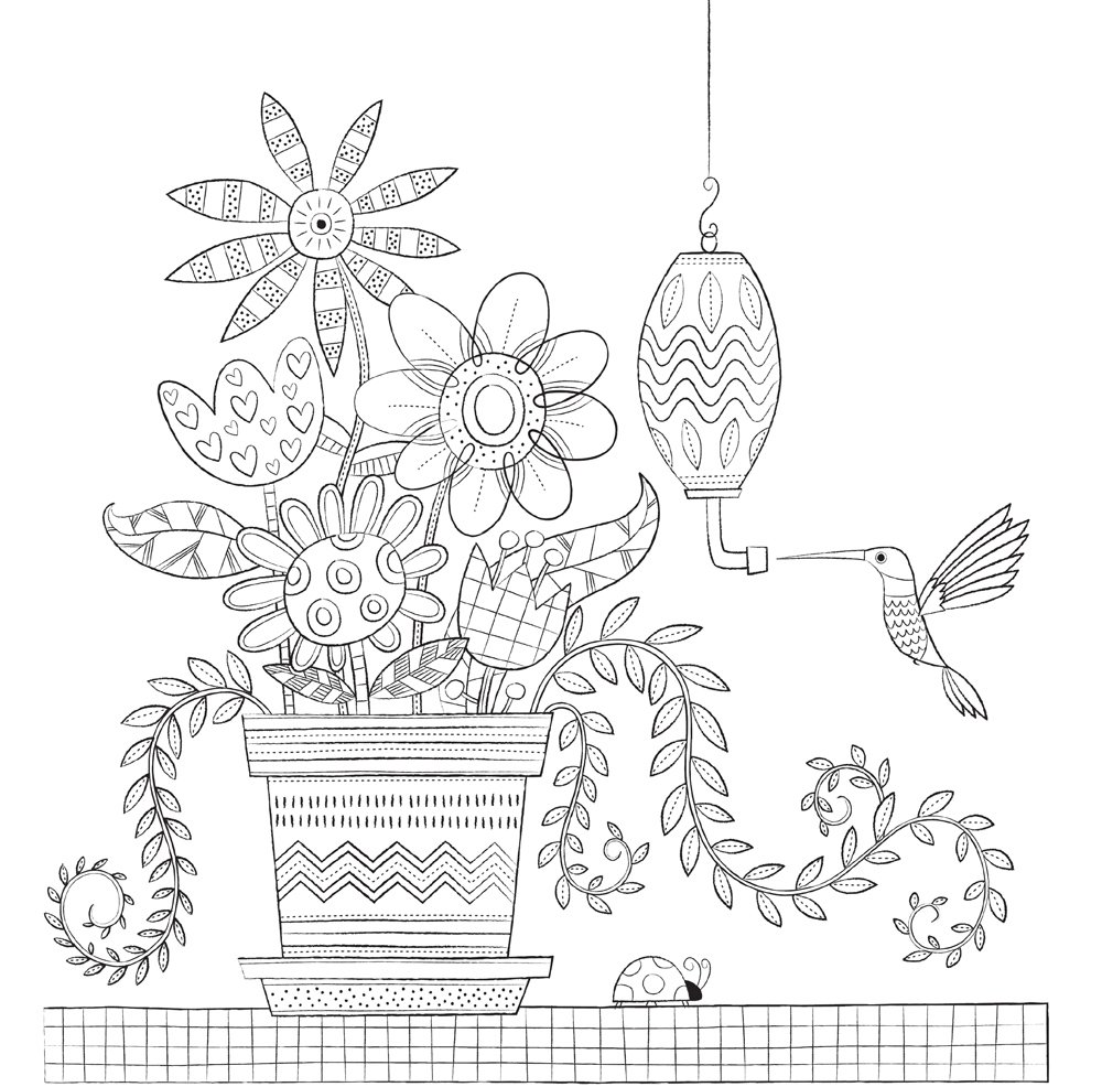 Amazon.com: Home Sweet Home: A Hand-Crafted Adult Coloring Book ...