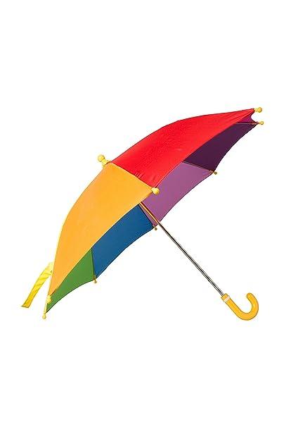 Mountain Warehouse Rainbow embroma el paraguas del arco iris - diversión y paraguas colorido del sol de la tela del arco iris, paraguas fácil de la lluvia ...