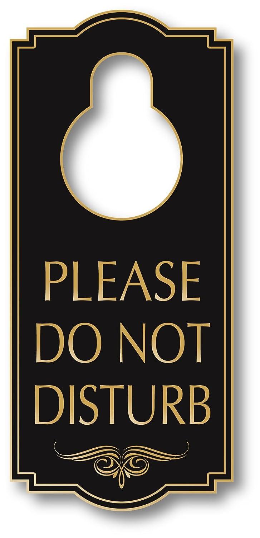 "My Sign Center Do Not Disturb Door Hanger Sign, Indoor and Outdoor Use, 4"" X 8"", A87-07"