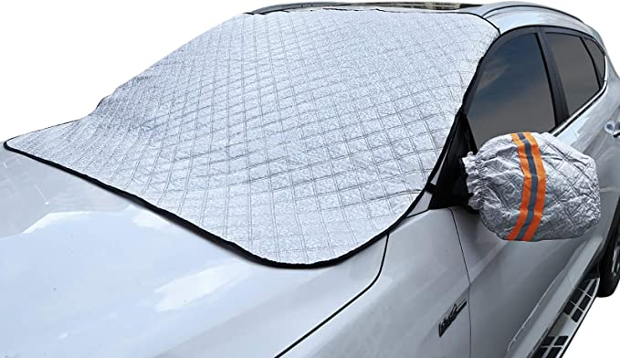 Truck Van Car Rear Windshield Snow Cover 56 X36Magnetic Frost Guard Windshield Cover SUV Waterproof Car Windscreen Snow Cover Back Sun Shade Protector Car