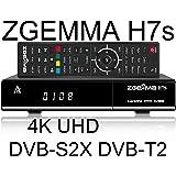 Zgemma H7s Decoder Combo UHD 4K con tuner DVB-S2X e DVB-T2 e IPTV, Enigma2, supporta feed multistream