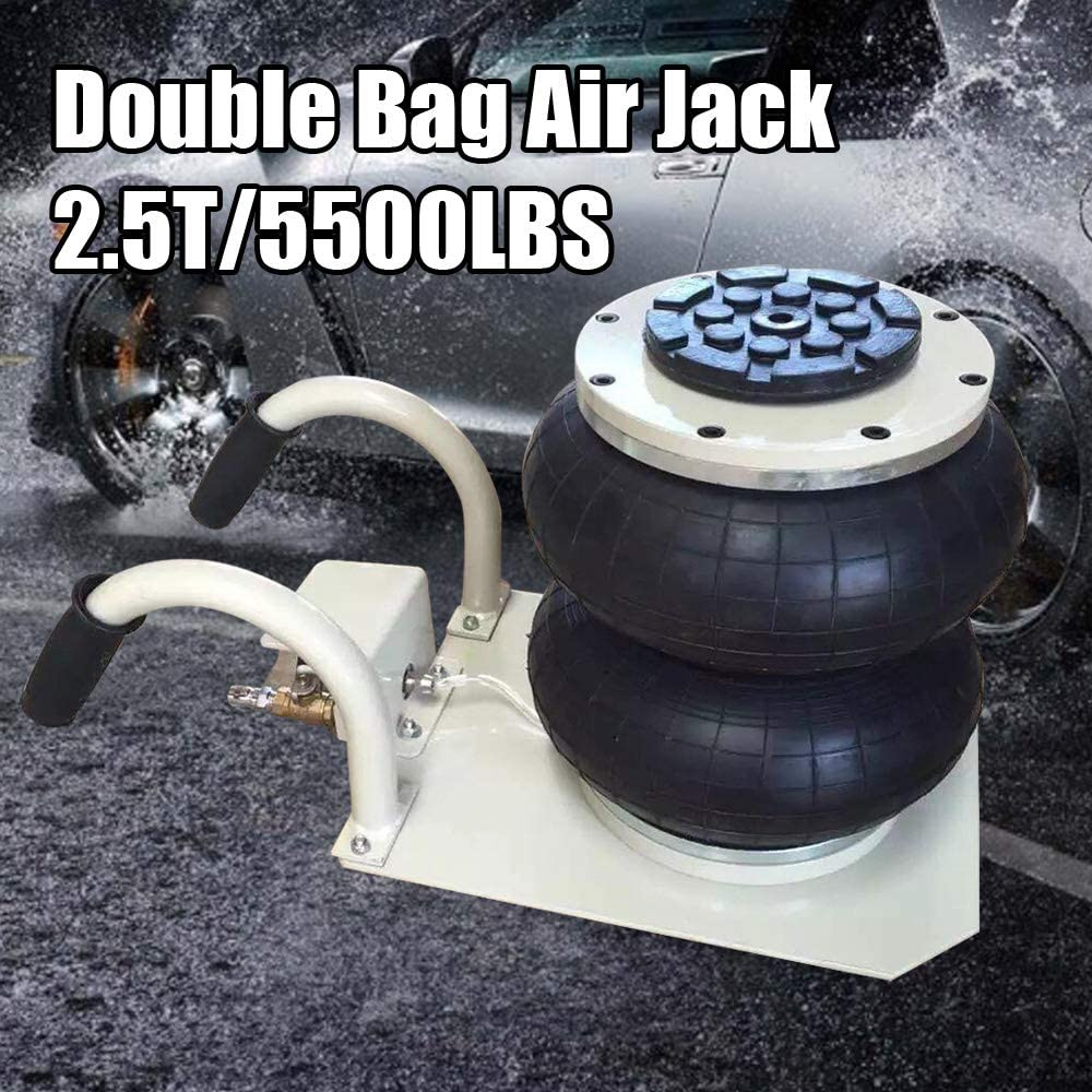 TBvechi Pneumatic Jack 3 Ton Triple Bag Air Pneumatic Jack 6600 lbs Rubber Release Quickly 52 50 18cm