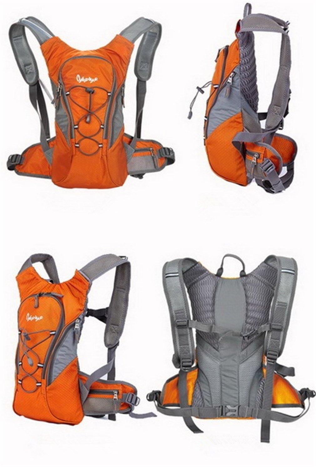 Holzsammlung Pacchetto idratazione Sacca 2 litri e Zaino - Ideale per Ciclismo, Escursionismo, Corsa, Campeggio, Camminata
