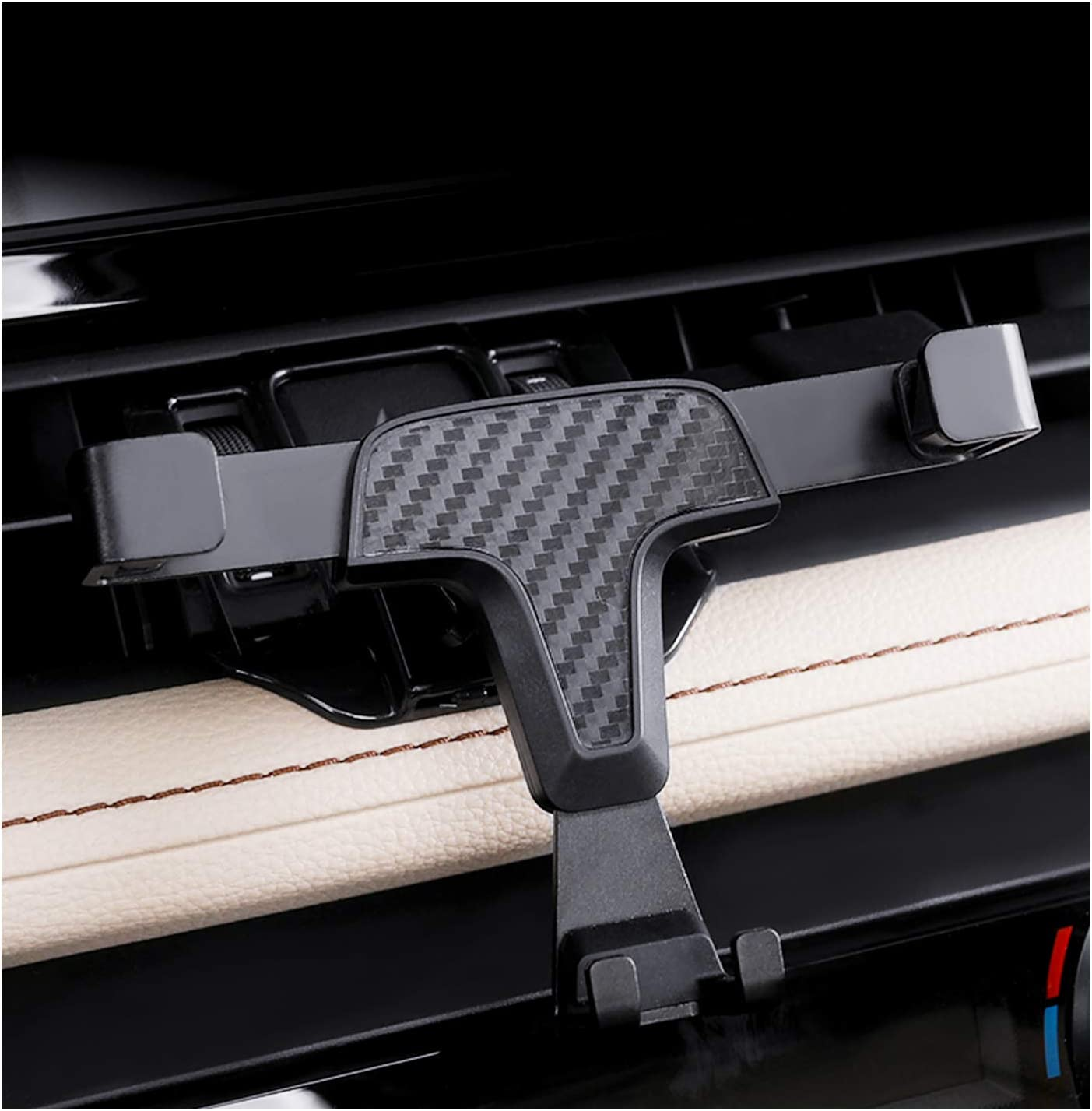 YEE PIN Phone Holder for 2019 2020 RAV 4 New Version Carbon Fiber Pattern Vent Mount RAV 4 2019 2020 Car Dashboard Cell Phone Mount Compatible with Any 4-6.5 Inches Smartphone