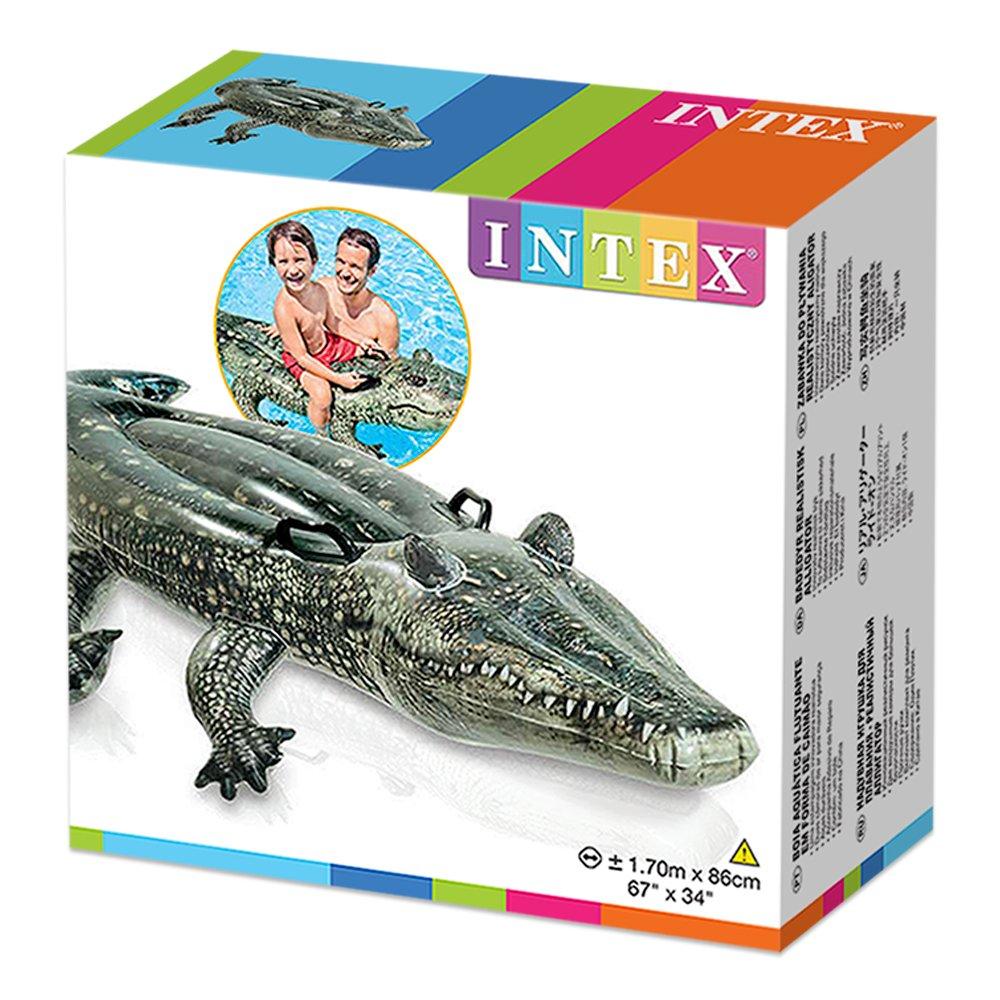 Intex 57551NP - Cocodrilo Hinchable con impresión fotorrealista: Amazon.es: Juguetes y juegos