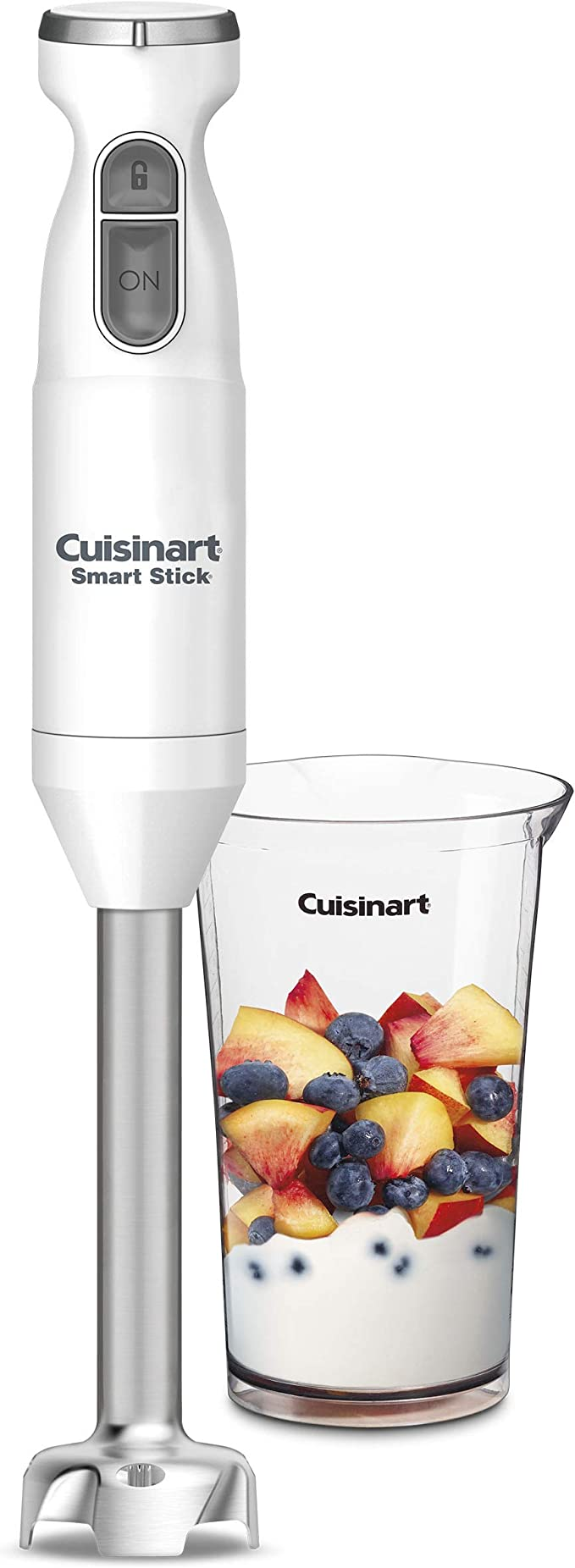 White NEW Cuisinart 2-Speed Smart Stick Hand Blender Mixer CSB-175