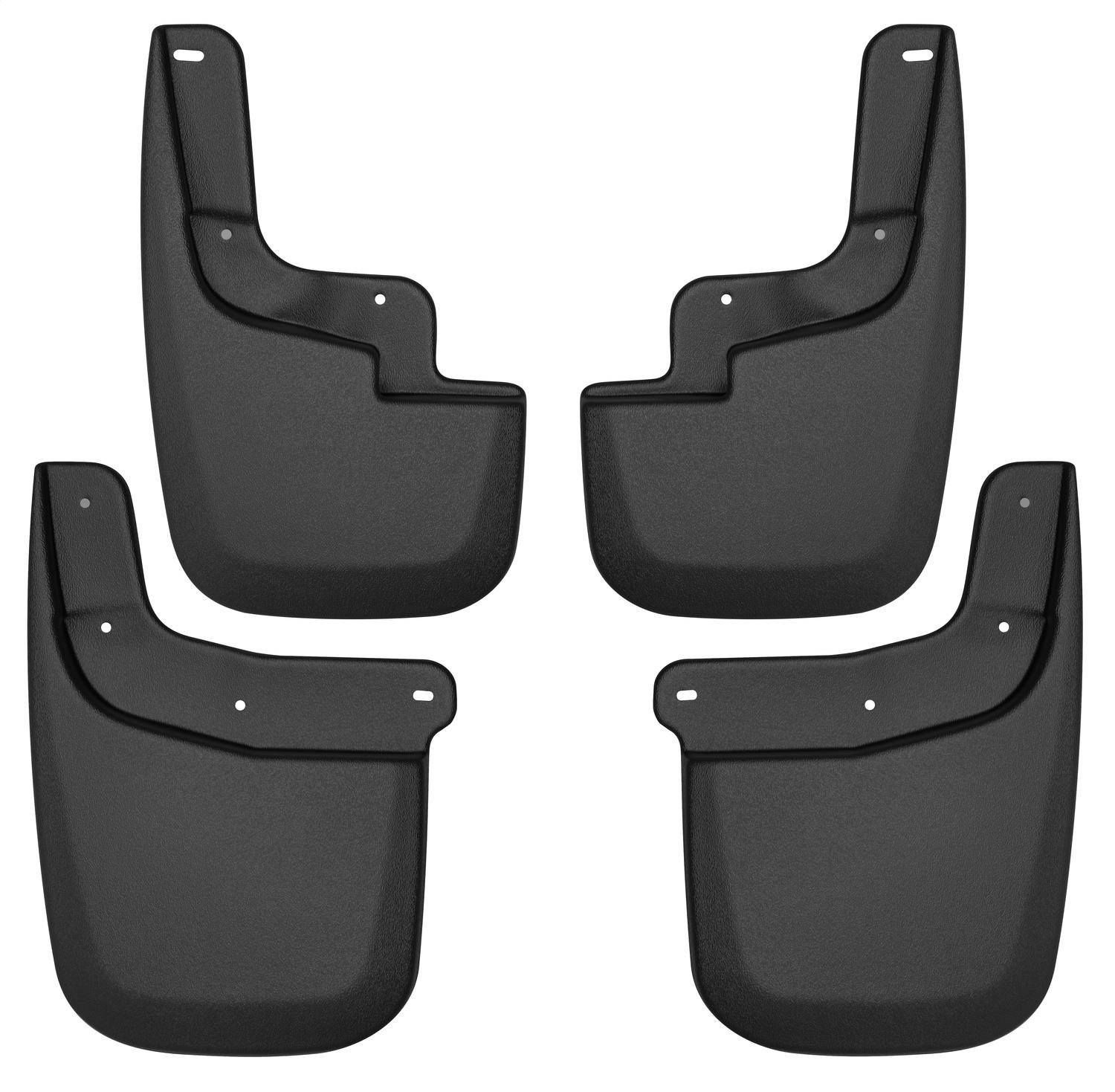 Husky Liners 58236 Black Mud Guards - Set Fits 15-19 Colorado/Canyon without Fender Flares or Cladding, 4 Pack,
