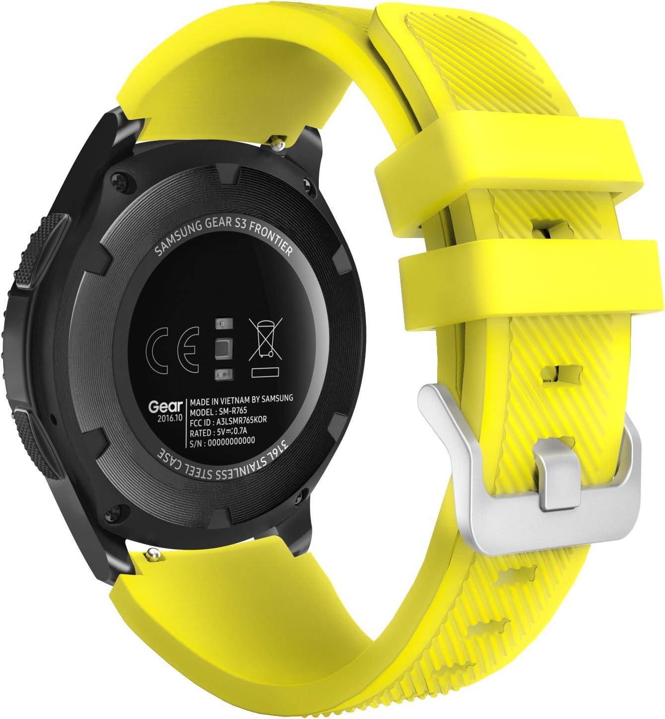 MoKo Correa para Samsung Galaxy Watch 3 45mm/Galaxy Watch 46mm/Gear S3 Frontier/S3 Classic/Huawei Watch GT/GT2 46mm/GT 2e: Amazon.es: Electrónica