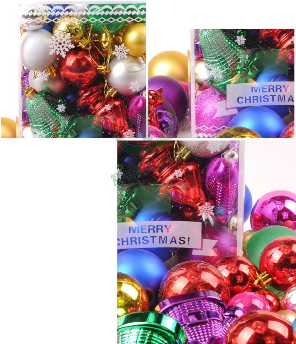 60PC Décorations pour arbres de Noël Violet Boules