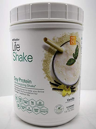 Amazon Com Shaklee Life Energizing Shake Delicious Non Gmo Protein Shake With Pre And Probiotics Vanilla Flavor Net Wt 23oz 15 Servings Health Personal Care
