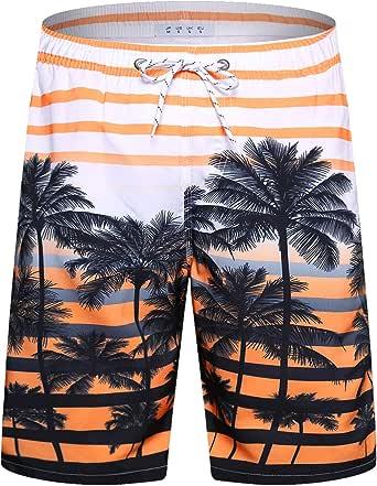 "APTRO Men's 9"" Swim Trunks Long Board Shorts Beachwear Bathing Suits with Mesh Lining and Pockets"