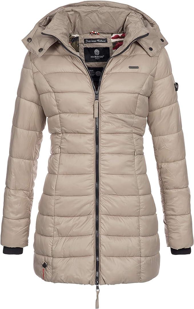 Marikoo Abendsternchen Damen Mantel Jacke Steppjacke Winterjacke Gesteppt Ubergang Xs Xxl Grosse Xs 34 Farbe Taupe Amazon De Bekleidung
