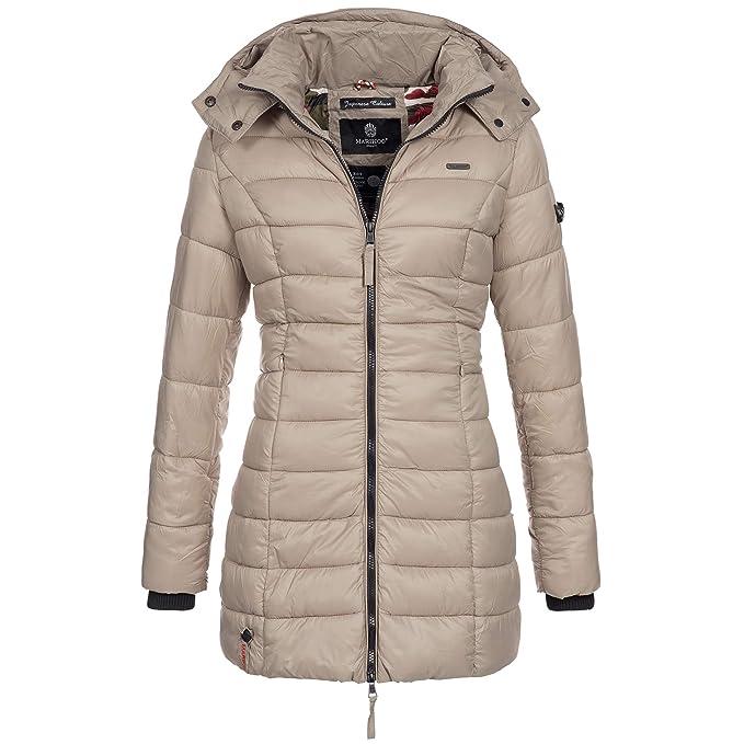 Marikoo Damen Mantel Winter Jacke Steppjacke Winterjacke gesteppt Übergang warm Abendsternchen XS XXL 14 Farben