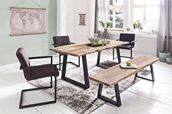 Home Collection24 Table A Manger Gaya Tronc D Arbre Bois Massif D
