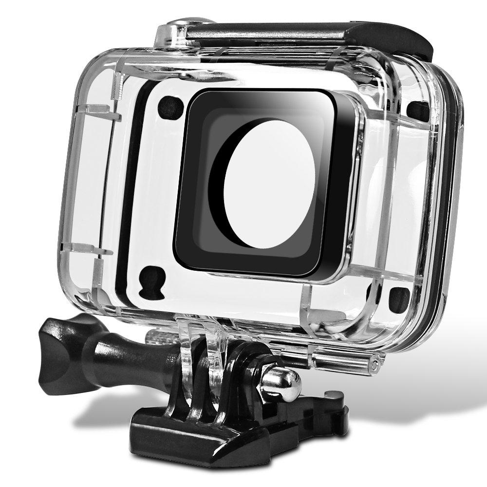 Senhai Caparazón Protector Impermeable para Yi Action Camera 2, Reemplazo de Buceo de Protección Vivienda 45m del Carcasa y Funda con El Soporte para ...