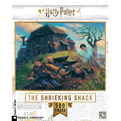 New York Puzzle Company - Harry Potter Shrieking Shack - 500 Piece Jigsaw Puzzle: Toys & Games