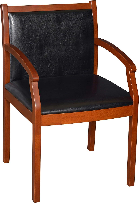Regency Regent Vinyl Guest Chair, Cherry