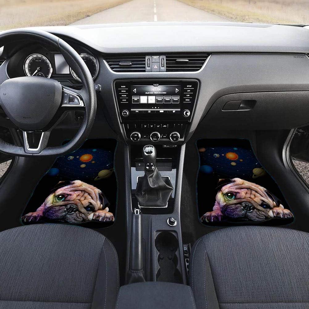 Salabomia Art Sugar Skull Pattern Car Floor Mats Heavy Duty Car Mats Wear Resistant Vehicle Floor Mats Car Rug