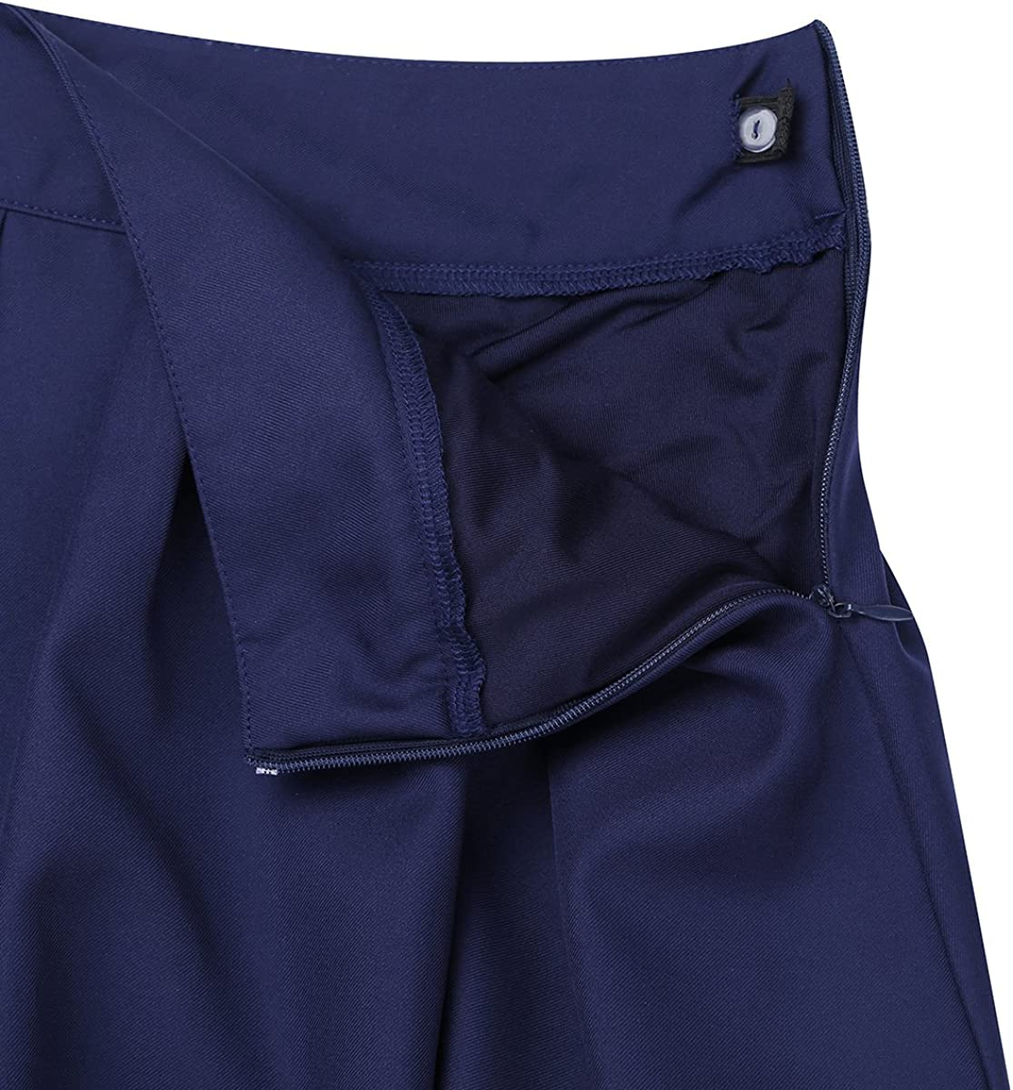 MSemis Girls Kids Pleated Plaid Tartan Billie Kilt Skirt with Leather Buckled Straps Classic School Uniforms Mini Skirts