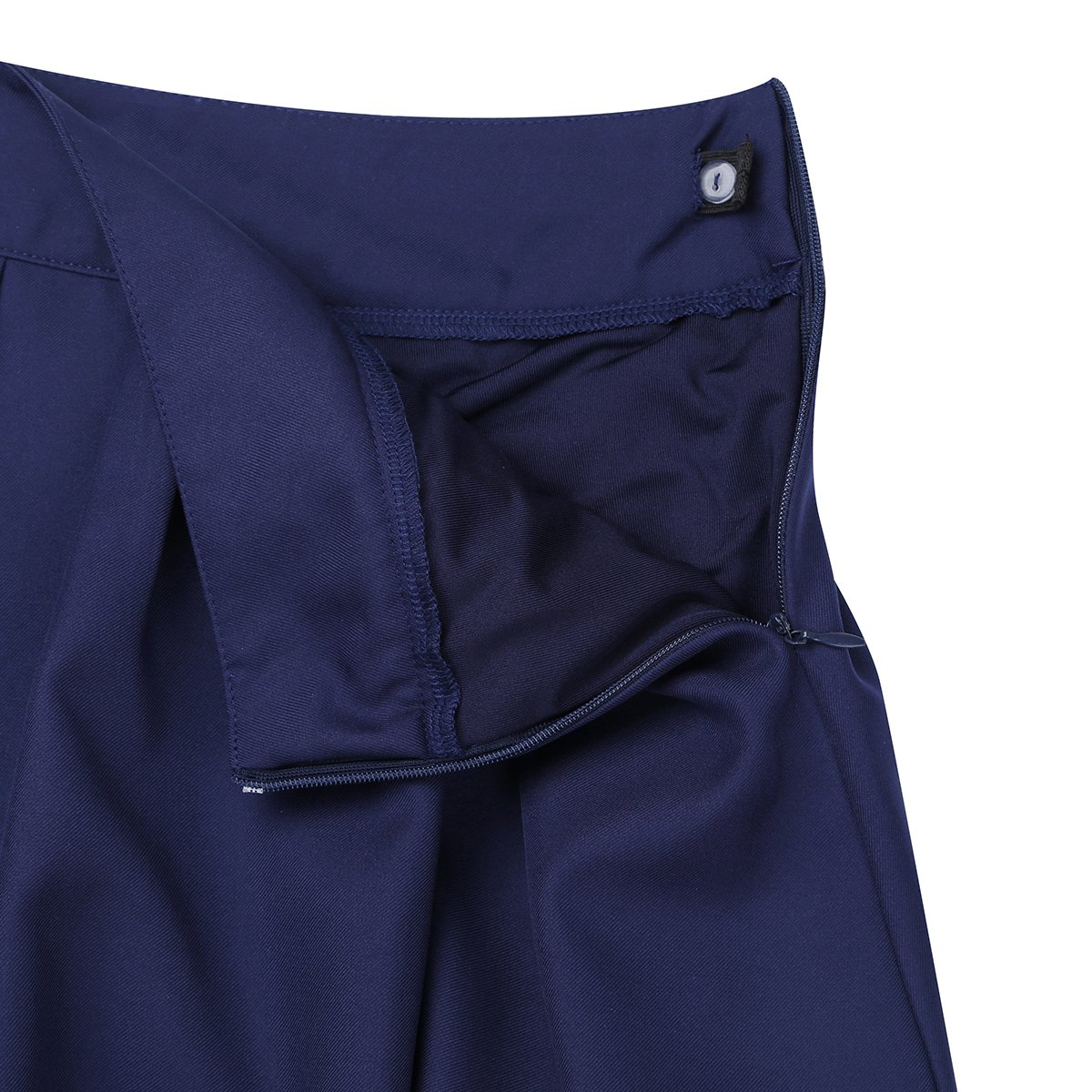 YiZYiF Kids Girls Elastic Soft Plain Uniform Pleated Skirt with Hidden Shorts Schoolwear