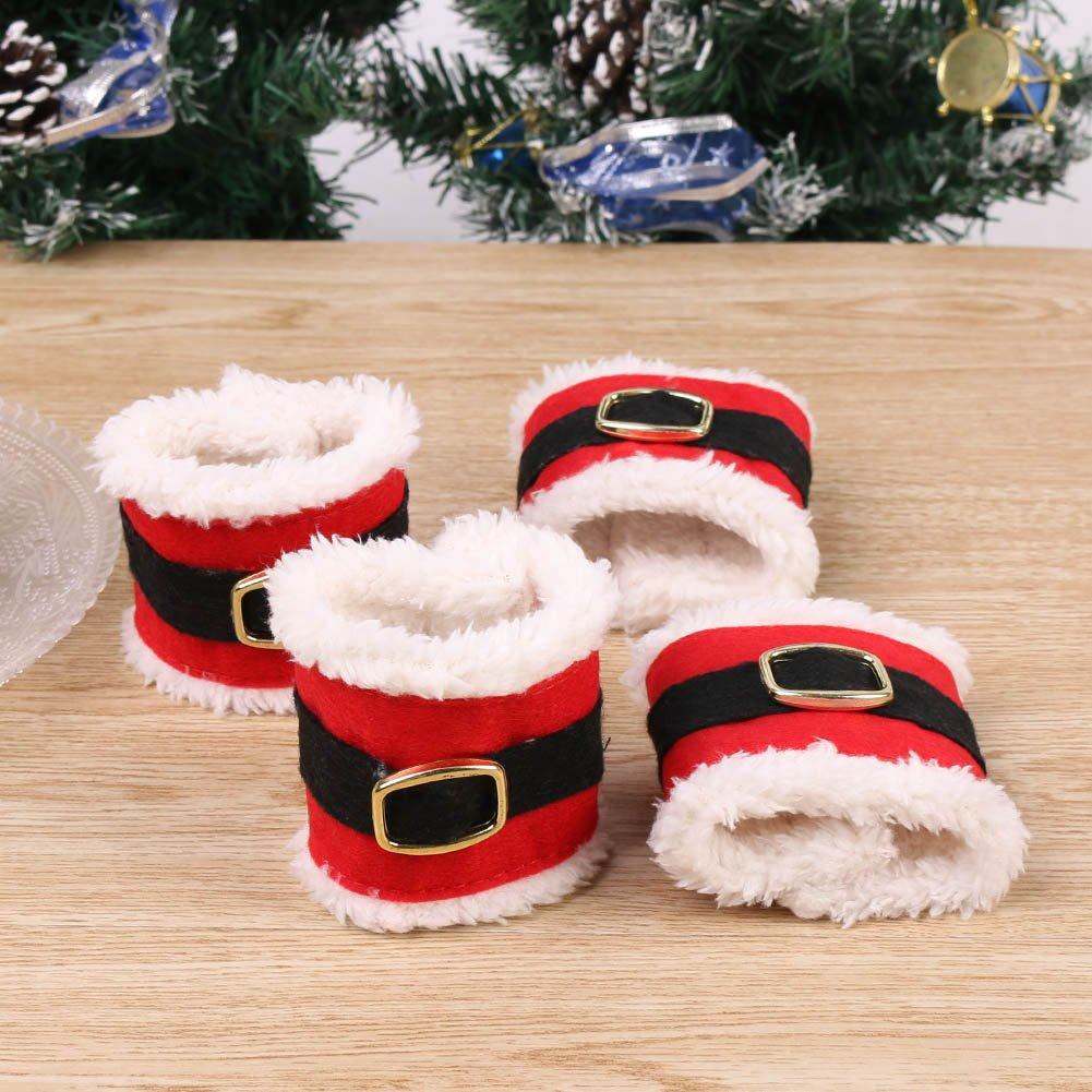 Amazon.de: HAPPY ELEMENTS Weihnachten Serviettenringe ...