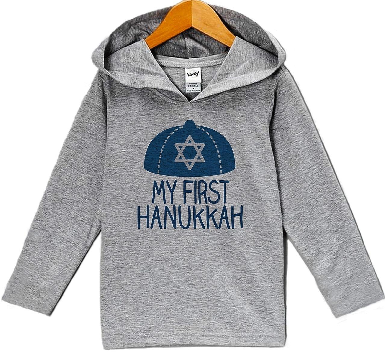 Custom Party Shop Babys My First Hanukkah Hoodie Grey