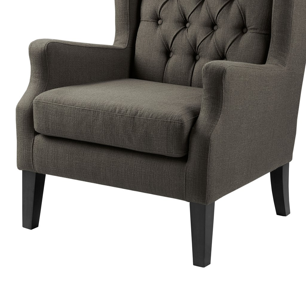 Narrow Armchair Amazoncom Button Tufted Wing Chair Grey Maxwell Kitchen Dining
