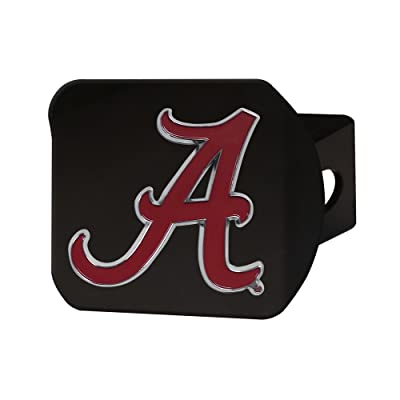 FANMATS NCAA Alabama Crimson Tide Hitch Cover with Color Emblemblack Hitch Cover with Color Emblem, Black, One Size : Sports & Outdoors