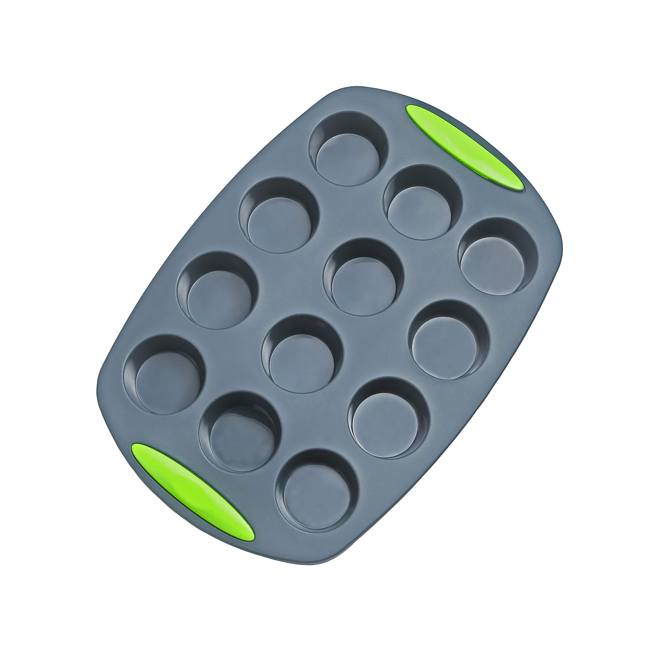 5 Pieces Silicone Bakeware Set | Food Grade FDA-Approved Silicone Molds | Round Cake Pan, Loaf Toast Bread Pan, 12 Cup Muffin Pan, 7-Cavity Donut Pan, 11x7.5-Inch Cake Tray - Baking Pans Nonstick Set by megrocle (Image #8)