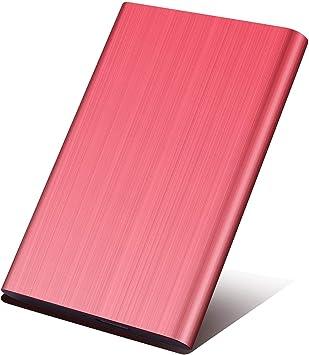 Prsfwed Disco Duro Externo portátil – Ultra Delgado HDD Externo USB 3.0 para PC, Mac, portátil, PS4, Xbox One y Smart TV Rosso 2 TB: Amazon.es: Electrónica