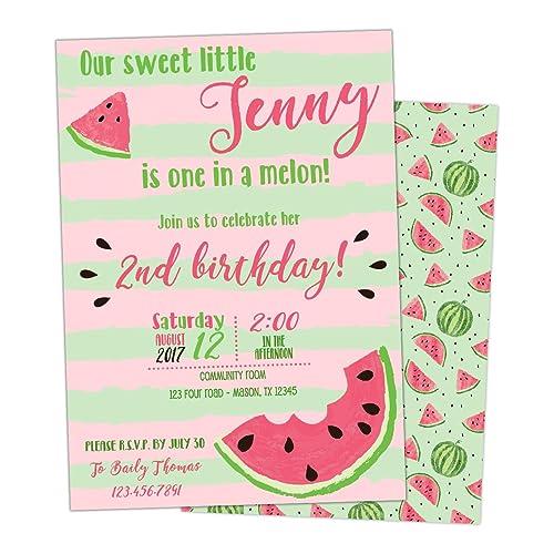 amazon com watermelon invitations girl birthday invite pink summer