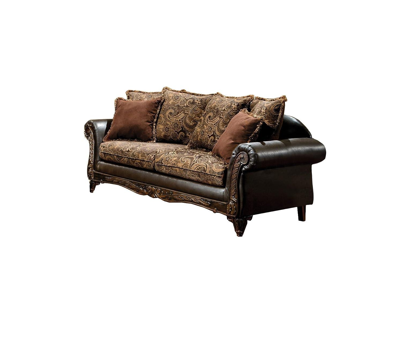 Amazon.com: Muebles de América Inigo sofá de tela y polipiel ...